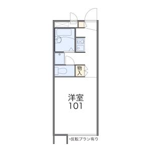 名古屋市天白區焼山-1K公寓 房間格局