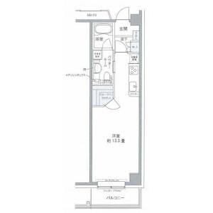 1R Mansion in Toyosu - Koto-ku Floorplan
