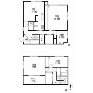 4LDK Mansion in Shirokane - Minato-ku Floorplan