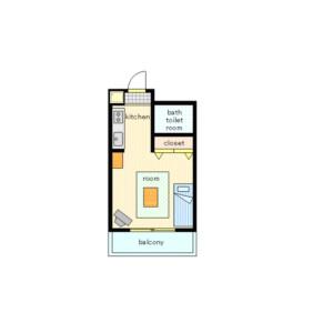 新宿区北新宿-1K公寓大厦 楼层布局