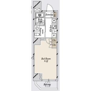 1K Mansion in Asakusabashi - Taito-ku Floorplan