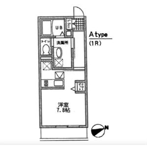 1R Mansion in Daizawa - Setagaya-ku Floorplan