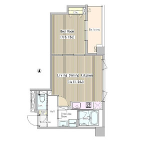 1LDK Mansion in Higashinakano - Nakano-ku Floorplan