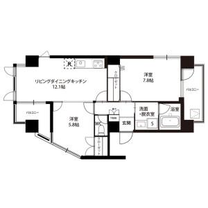 2LDK Mansion in Shimmachi - Setagaya-ku Floorplan