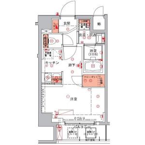 1R Mansion in Nihombashihakozakicho - Chuo-ku Floorplan