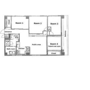 [Share House] KIMI : Pabolleal Yotsuya (Female Only) - Guest House in Shinjuku-ku Floorplan