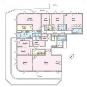 4LDK Mansion in Uehara - Shibuya-ku Floorplan