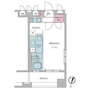 1R Mansion in Otowa - Bunkyo-ku Floorplan