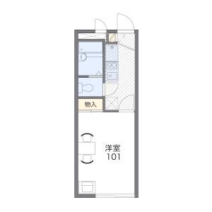 1K Apartment in Tokaichibacho - Yokohama-shi Midori-ku Floorplan