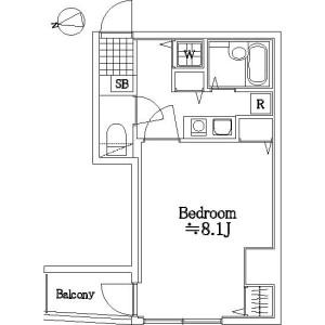 1K Mansion in Azabujuban - Minato-ku Floorplan