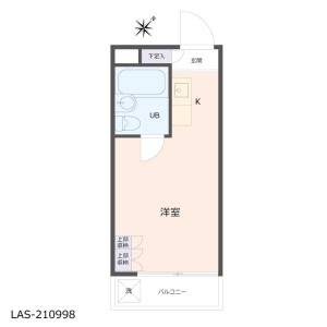 1R {building type} in Kamisaginomiya - Nakano-ku Floorplan