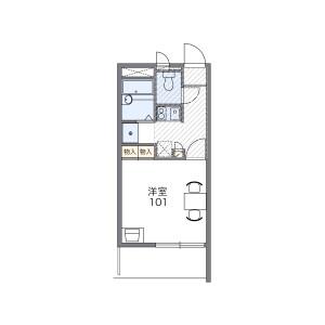 1K Mansion in Hiranominami - Osaka-shi Hirano-ku Floorplan