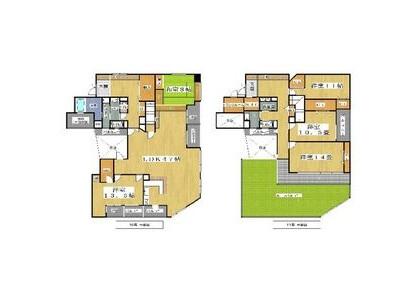 5LDK Apartment to Rent in Osaka-shi Naniwa-ku Floorplan