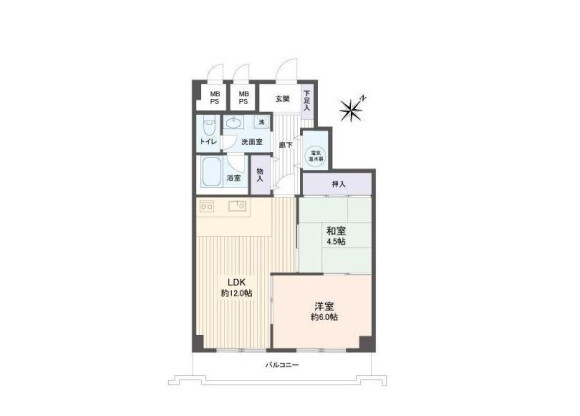 2LDK Apartment to Buy in Sapporo-shi Nishi-ku Floorplan