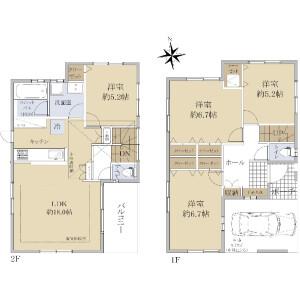 4LDK {building type} in Nishidai(2-4-chome) - Itabashi-ku Floorplan