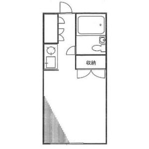 1R Apartment in Miyama - Funabashi-shi Floorplan