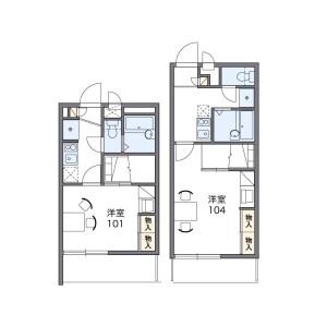 1K Mansion in Katagihara imotoge - Kyoto-shi Nishikyo-ku Floorplan