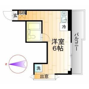 1R Mansion in Sanno - Ota-ku Floorplan