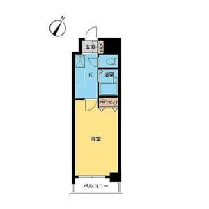 1K Mansion in Iwamotocho - Chiyoda-ku Floorplan