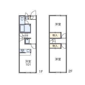 1K Apartment in Wariden - Ogaki-shi Floorplan