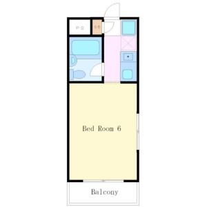 1R Mansion in Wakabayashi - Setagaya-ku Floorplan