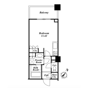 1R Mansion in Sarugakucho - Shibuya-ku Floorplan