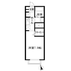 1K Apartment in Tsuboihigashi - Funabashi-shi Floorplan
