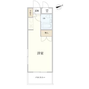 1R {building type} in Yaraicho - Shinjuku-ku Floorplan