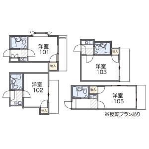 1K Apartment in Kikkodaicho - Kashiwa-shi Floorplan
