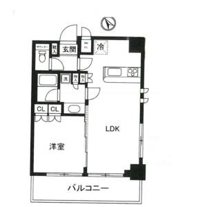 1LDK Mansion in Nakano - Nakano-ku Floorplan