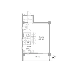 1R Mansion in Minamiaoyama - Minato-ku Floorplan
