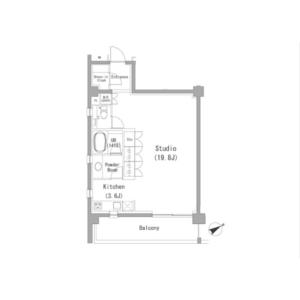 1R Mansion in Minamiaoyama - Minato-ku Floorplan