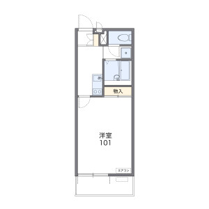 1K Apartment in Honcho - Kawaguchi-shi Floorplan