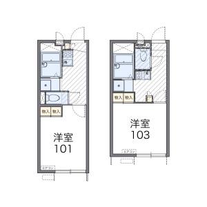 1K Apartment in Kitakaname - Hiratsuka-shi Floorplan
