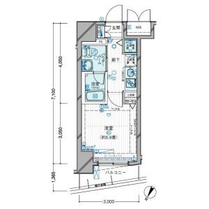 1K Mansion in Shimomeguro - Meguro-ku Floorplan