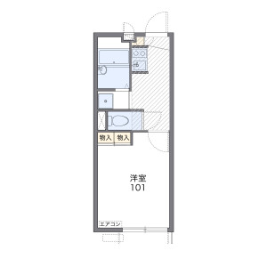 1K Apartment in Shinden - Adachi-ku Floorplan