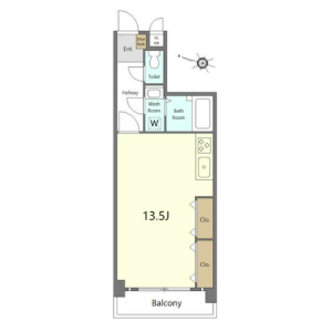 1R {building type} in Hikawadai - Nerima-ku Floorplan