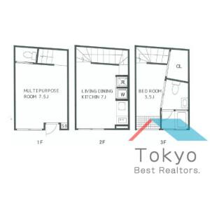 1SLDK Mansion in Shimbashi - Minato-ku Floorplan