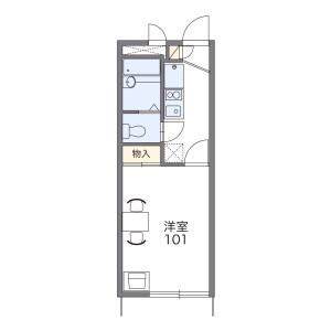 1K Apartment in Sobudai - Zama-shi Floorplan