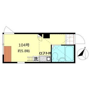 江戸川区 北小岩 1R アパート 間取り