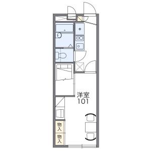 小金井市桜町-1K公寓 房間格局