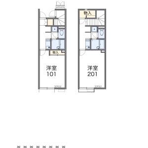 1K Apartment in Imajukuhigashi - Fukuoka-shi Nishi-ku Floorplan