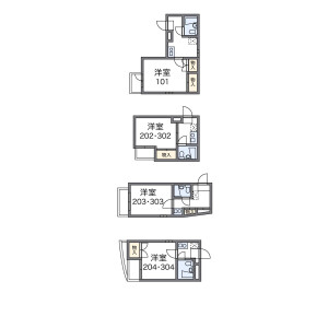 1K Mansion in Waseda tsurumakicho - Shinjuku-ku Floorplan
