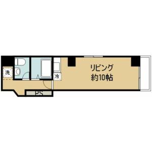 1R Mansion in Ueno - Taito-ku Floorplan