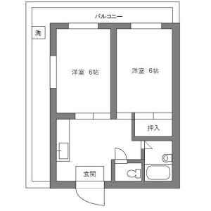 2DK Mansion in Machiya - Arakawa-ku Floorplan