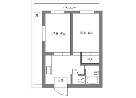 2DK Apartment to Rent in Arakawa-ku Floorplan