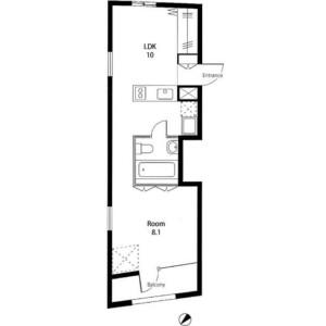 1LDK Mansion in Azabujuban - Minato-ku Floorplan