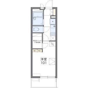 1K Mansion in Funato - Kashiwa-shi Floorplan
