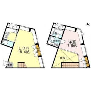 1LDK Mansion in Ebisu - Shibuya-ku Floorplan