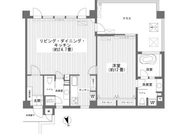 1LDK Apartment to Buy in Nago-shi Floorplan